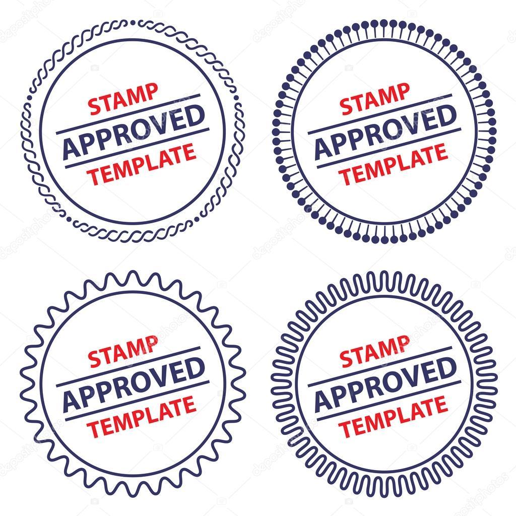 Great Circle Stamp Template, Security Design U2014 Stock Vector