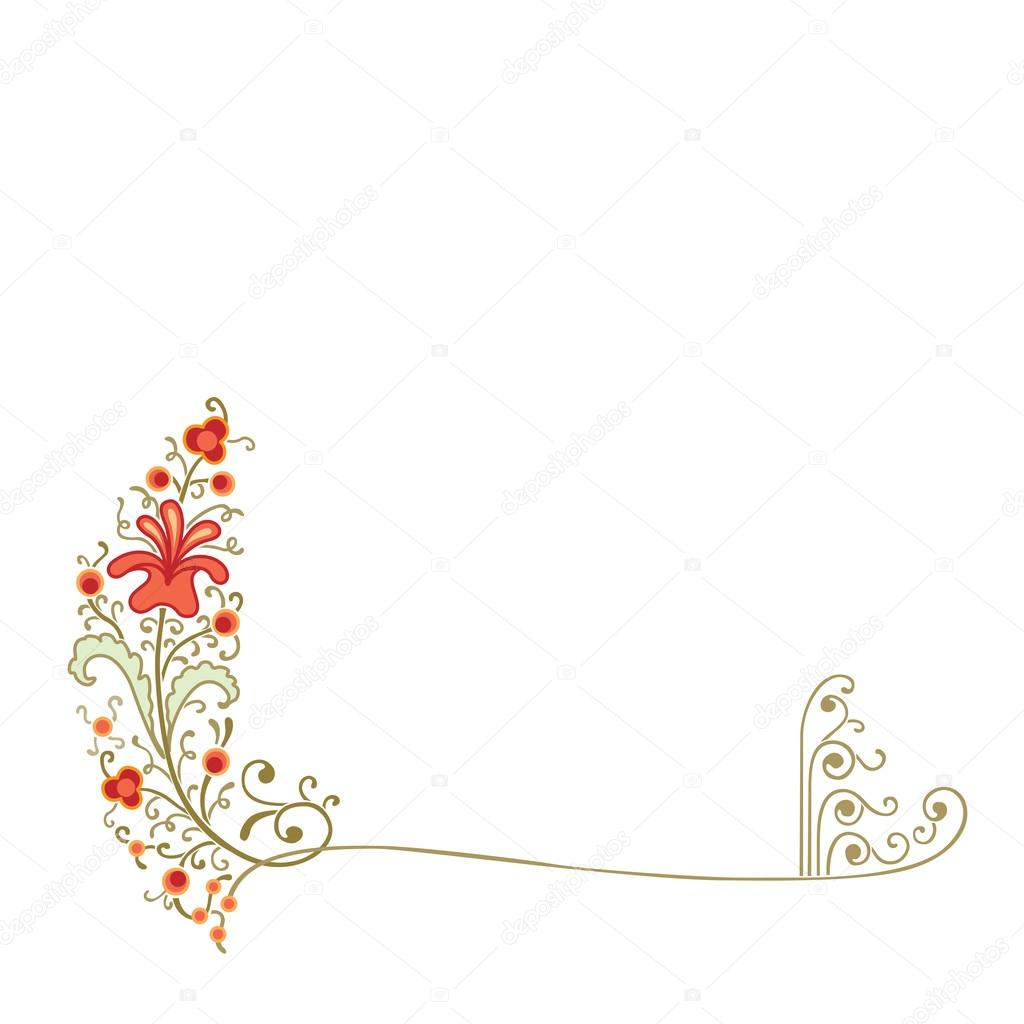 Cornering decoration of flowers and plants