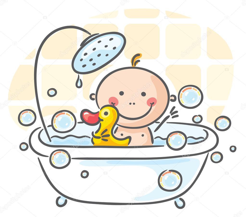Beb en la ba era vector de stock katerina dav 54058997 - Ninos en la banera ...