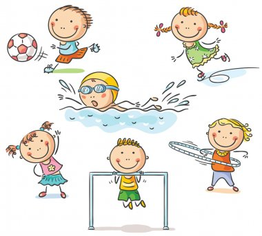 Kids and their sports activities