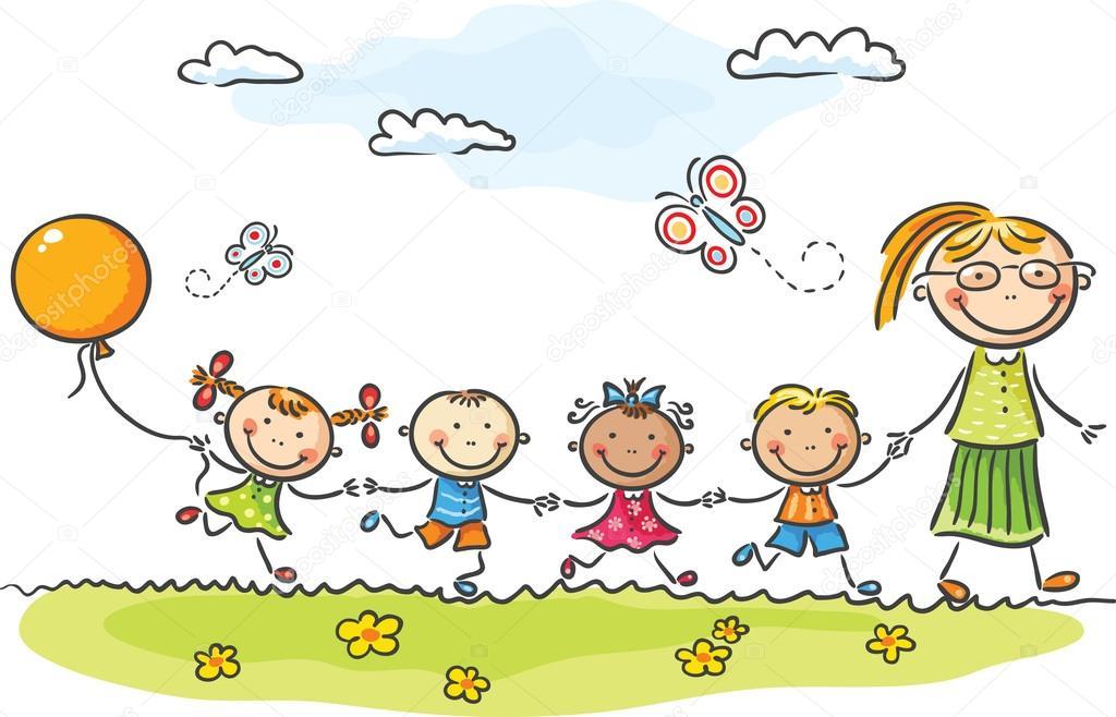 jardín de infantes — Archivo Imágenes Vectoriales © Katerina_Dav ...