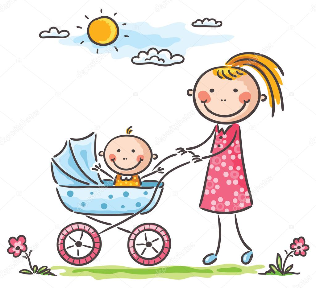 Áˆ Mother And Baby Cartoon Stock Pictures Royalty Free Mother And Baby Images Download On Depositphotos