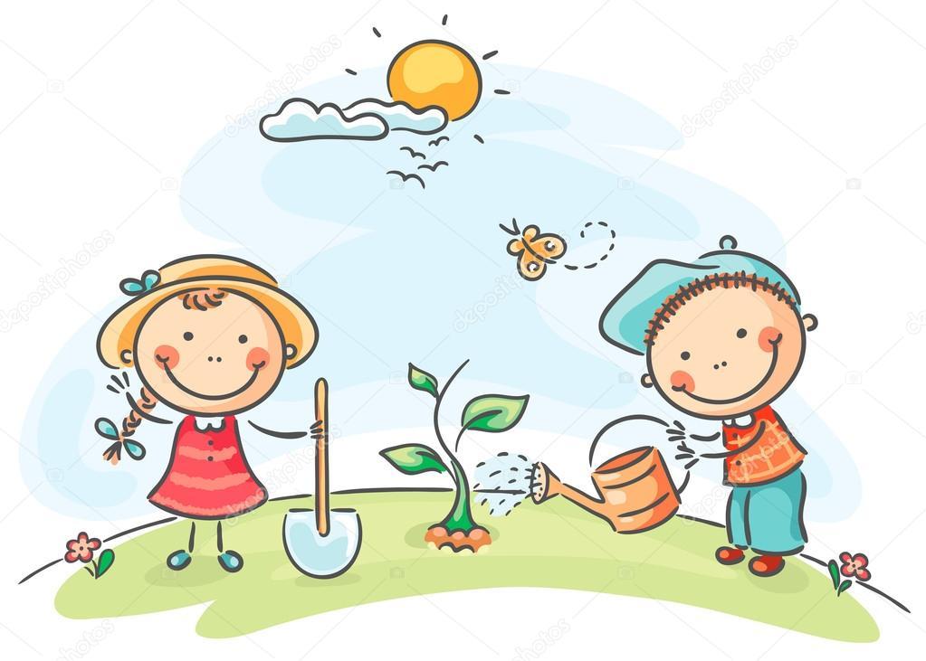 actividades primavera para niños — Vector de stock © Katerina_Dav ...