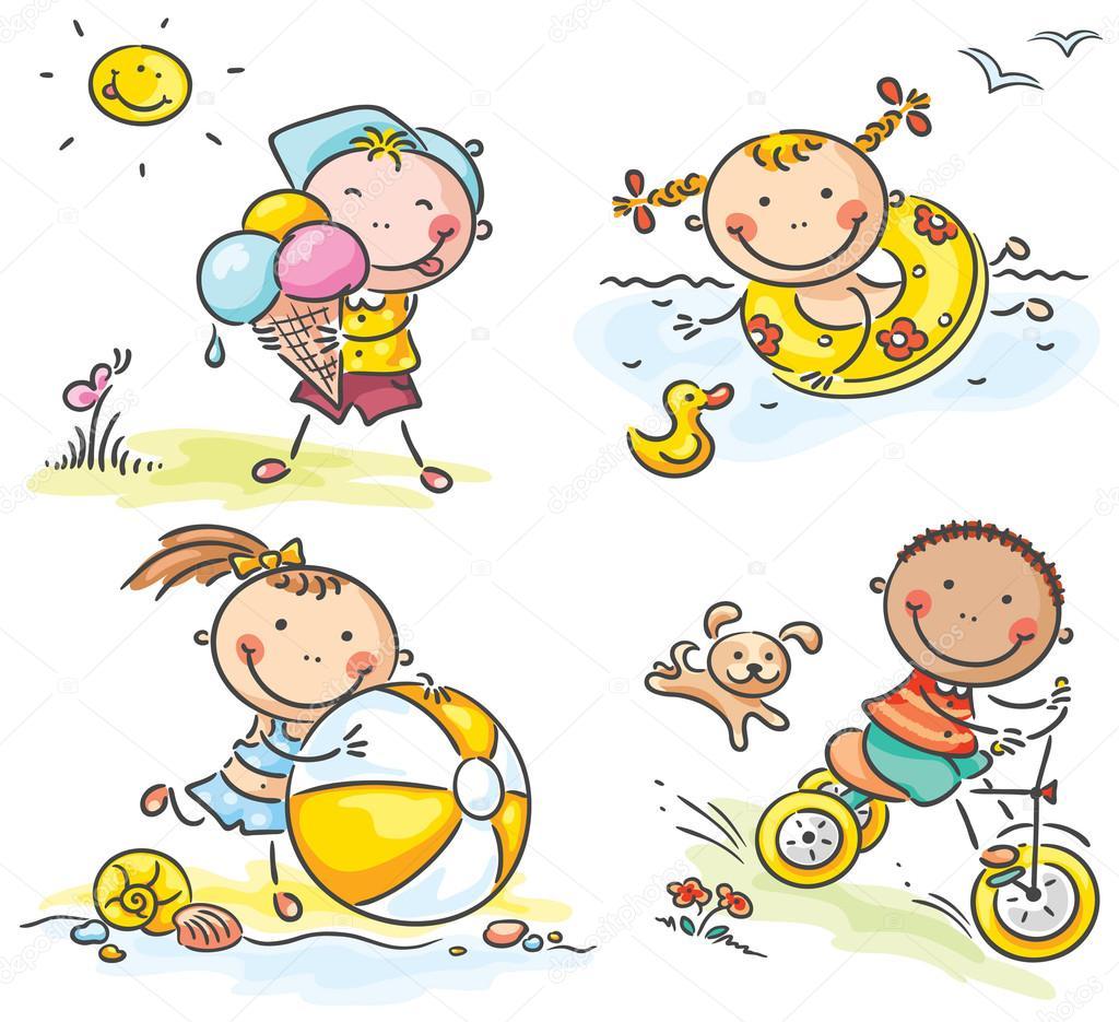 Verano actividades al aire libre para ni os vector de - Actividades para ninos al aire libre ...