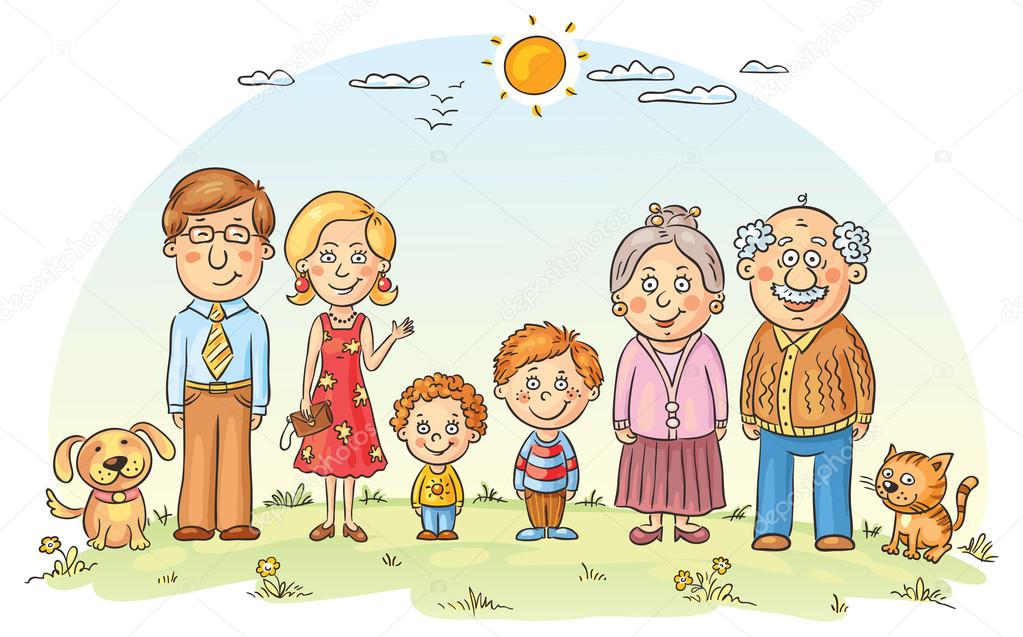 Vector Feliz Viaje Familia: Vetor De Stock © Katerina_Dav #56054917