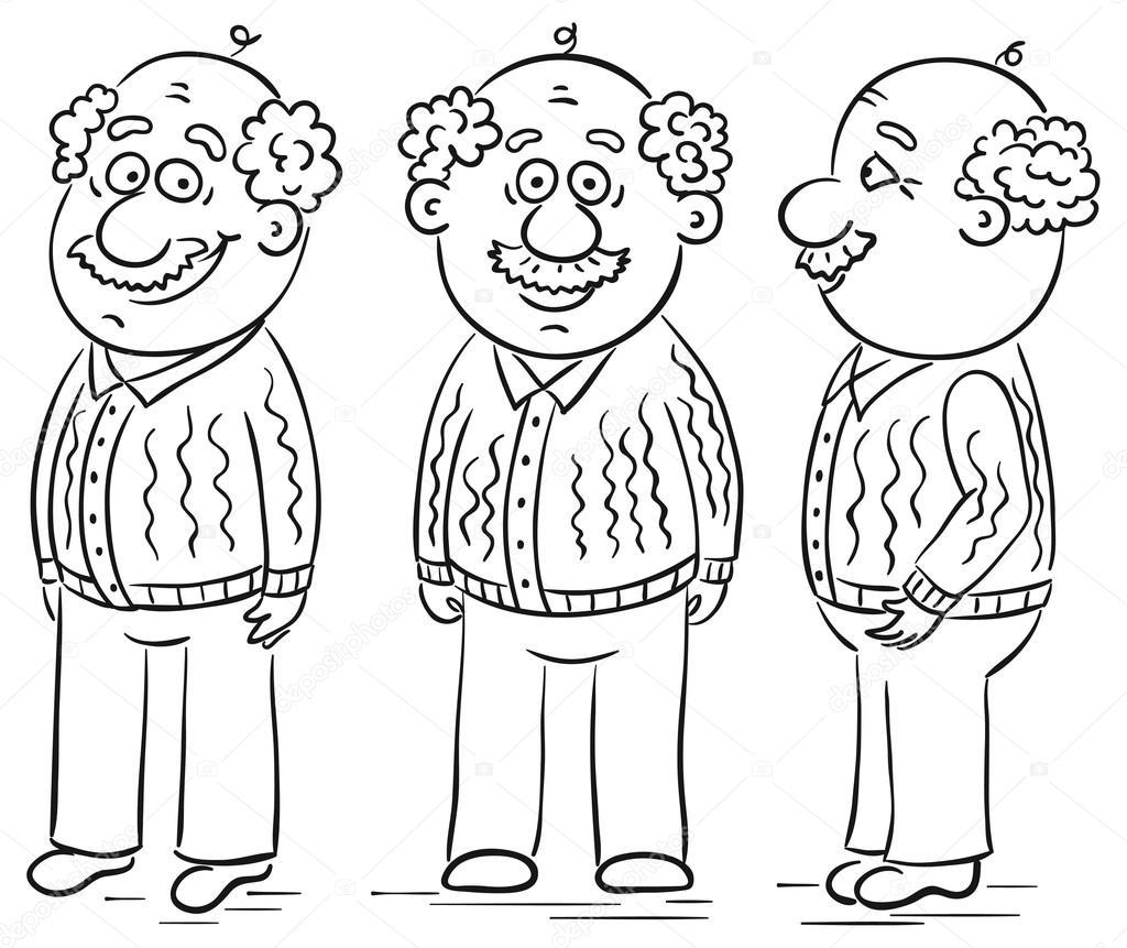 Imágenes Grandfather Para Colorear Abuelo De Dibujos Animados