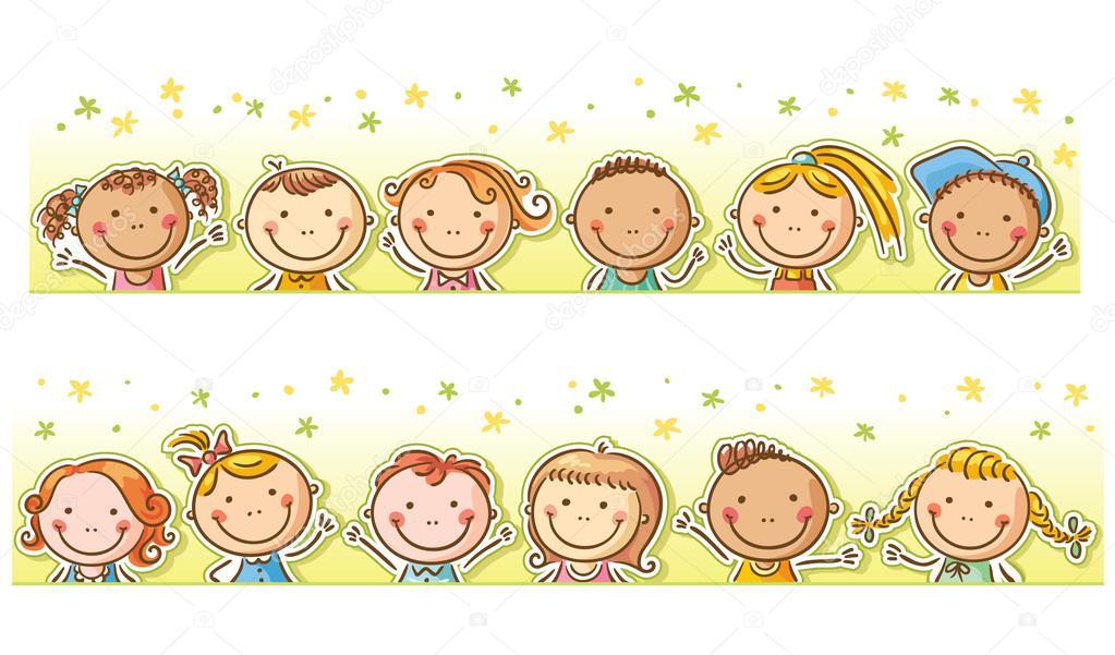 边框和快乐卡通小孩 图库矢量图像 169 Katerina Dav 64282667