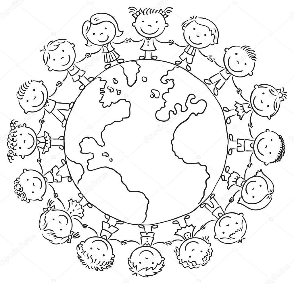 Dibujos: niños alrededor del mundo | Los niños alrededor del mundo