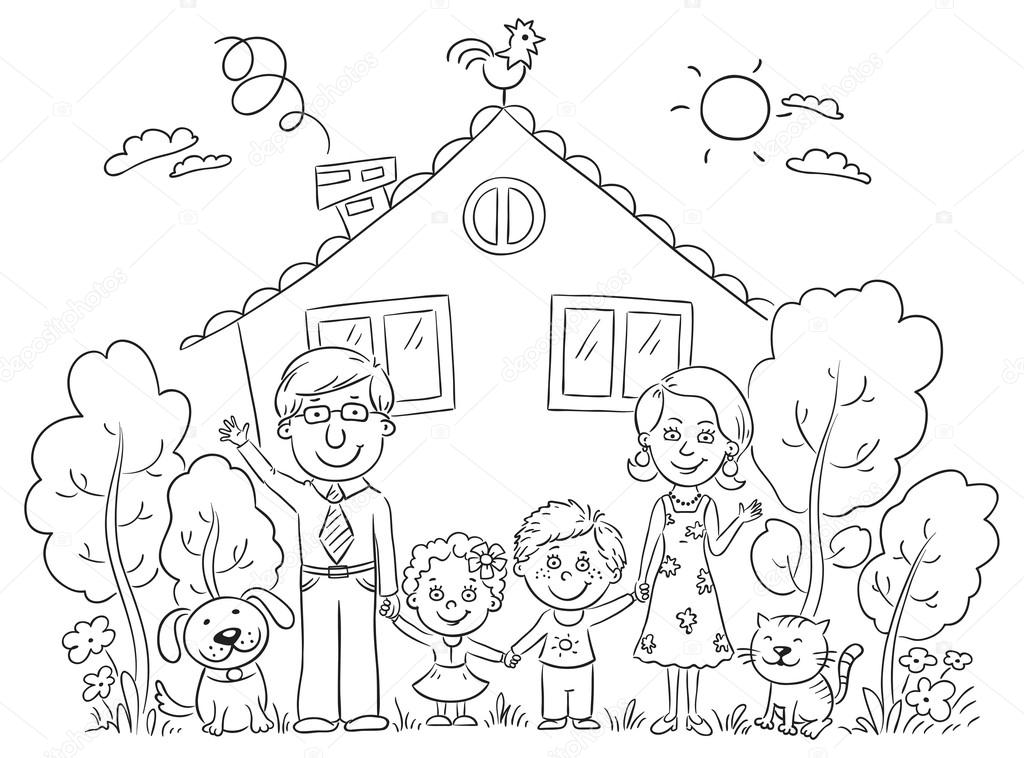 Family at the House, Outline