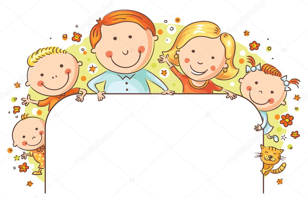 marco familiar feliz — Vector de stock © Katerina_Dav #76018045