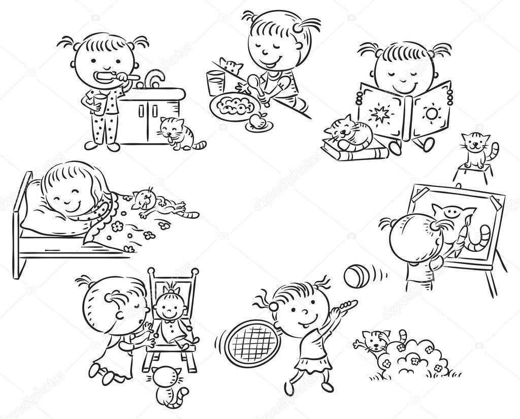 Imágenes 10 Actividades Diarias Actividades Diarias De La Niña