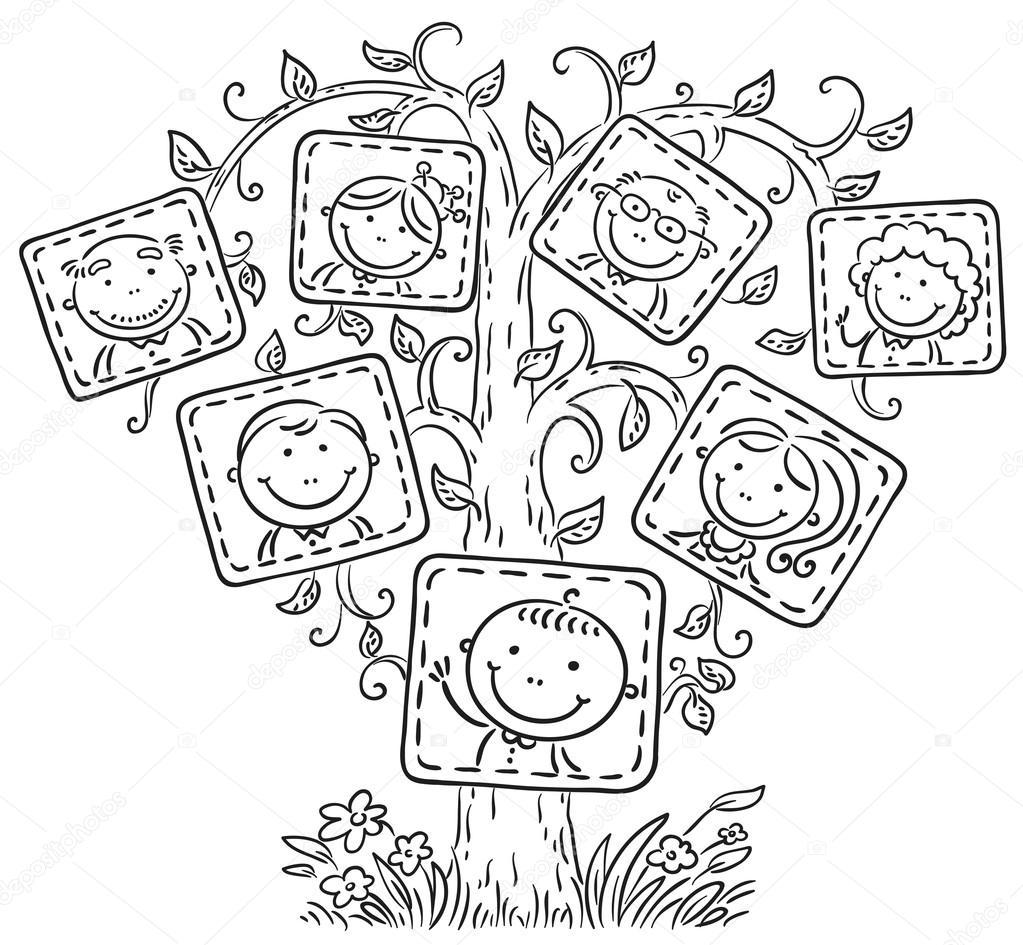 Dibujos Arboles En Blanco Y Negro árbol De Familia En