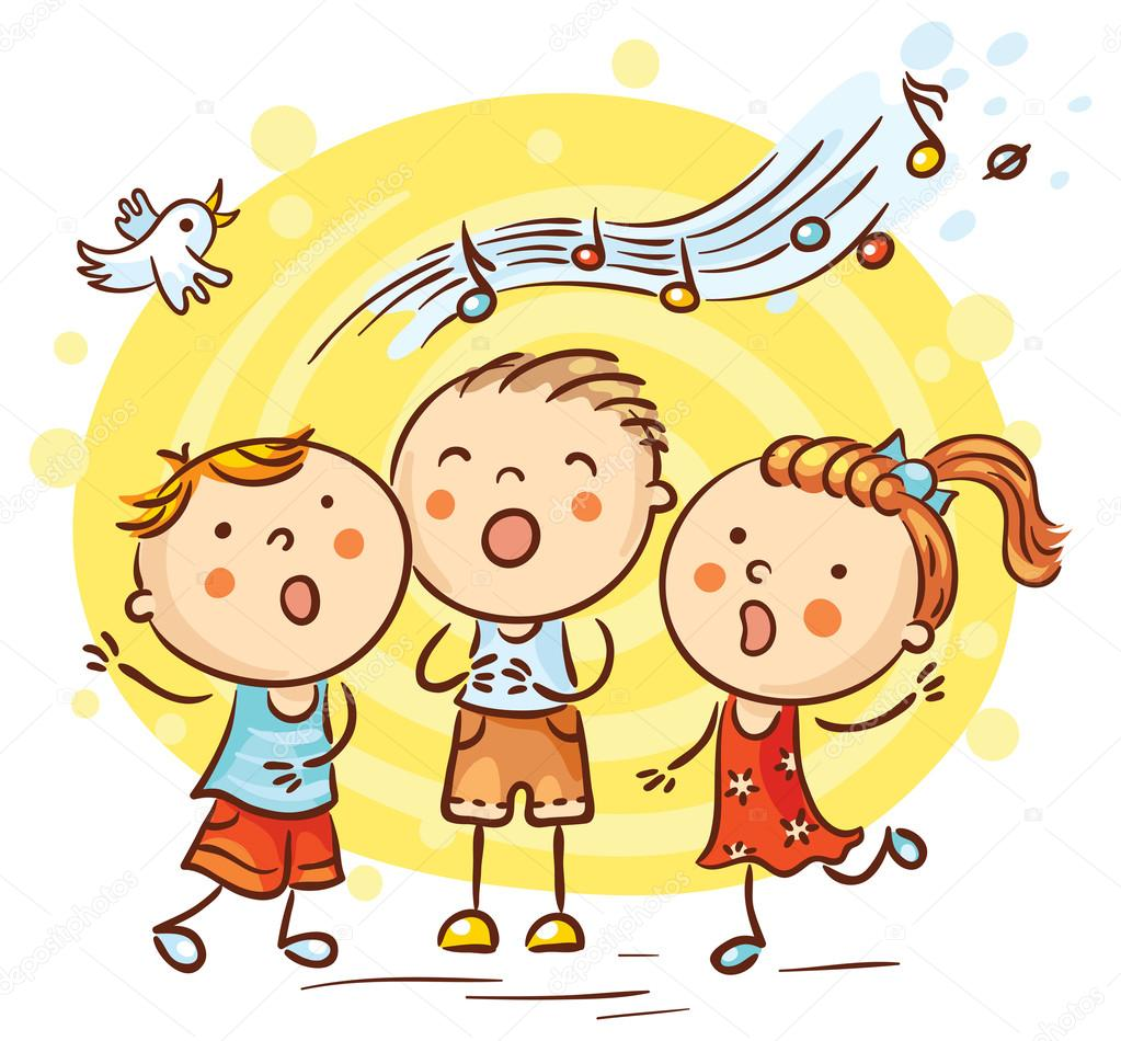 Ni 241 Os Cantando Canciones Dibujos Animados Coloridos