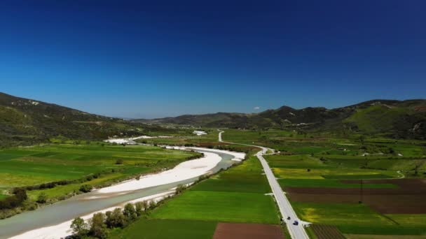 Beautiful Nature. Albania natural landscape. Aerial footage