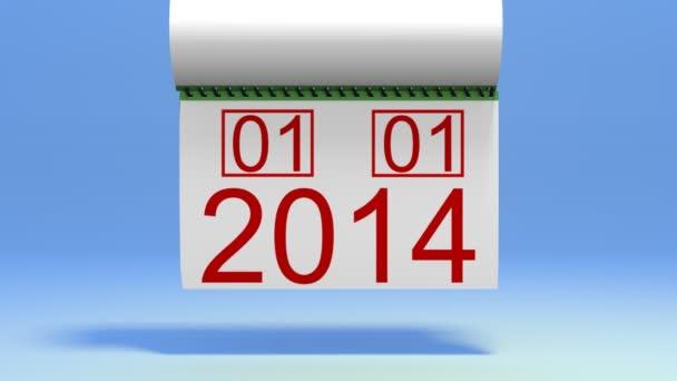 Přechod mezi 2013 a 2014 s alfa kanálem