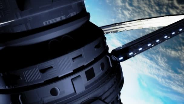 Vesmírná stanice nad zemi
