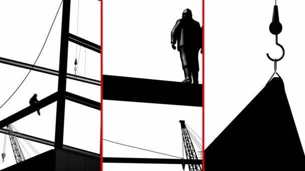 Černobílé ilustrace pro staveniště