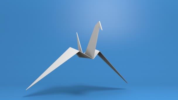 weißer Papiervogel mit Alphakanal