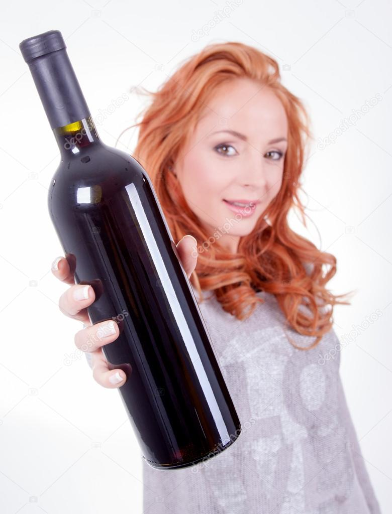 sexy-woman-holding-bottle-of-wine