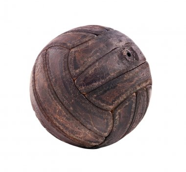 Vintage handmade leather soccer ball