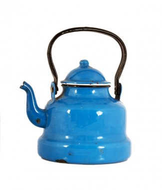 Old tin teapot