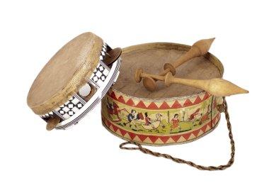 Tambourine and drum