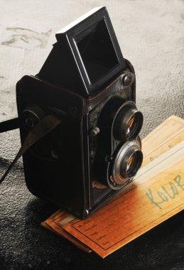 Vintage twin reflex camera