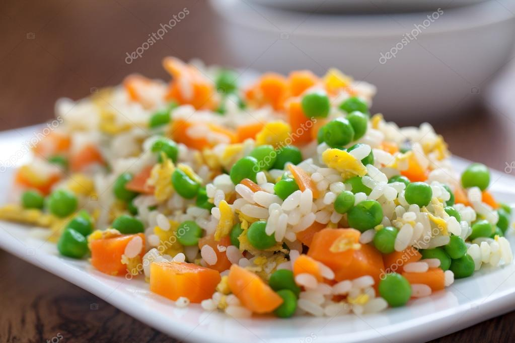 Cantonese Rice on plate