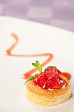 Strawberry Tart with Fresh Cream