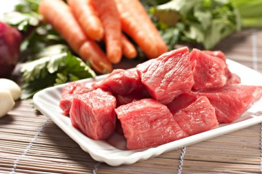 Raw Ingredients For Traditional Beef