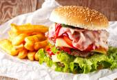 velký hamburger čerstvé