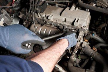 Mechanical repairs a car