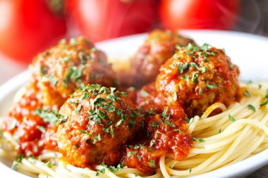 fresh Spaghetti and Meatballs