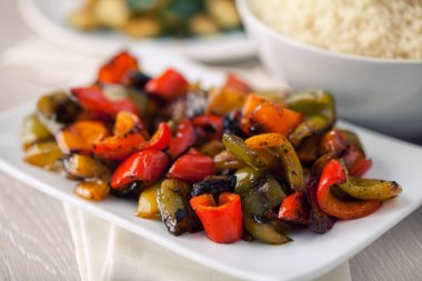 Roasted Peppers on plate