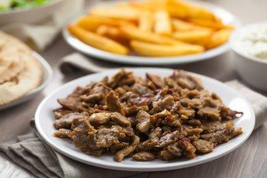 Greek Gyros with Fries
