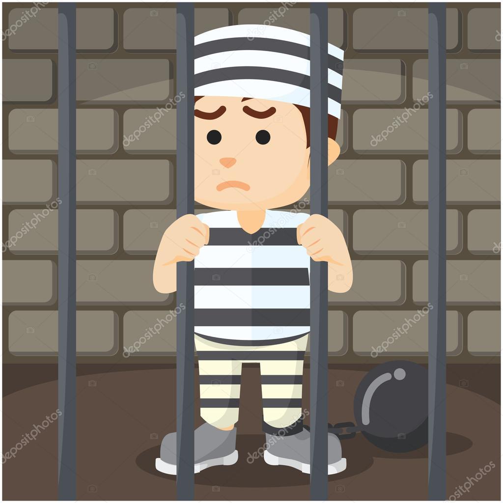 Resultado de imagem para desenho ladrão volta para Cadeia