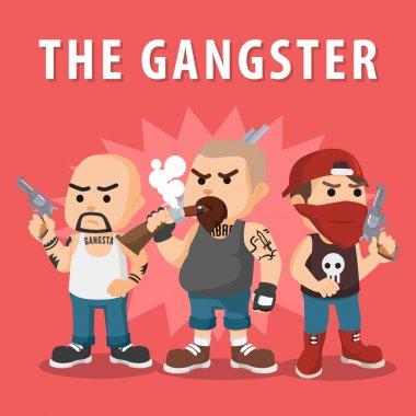 gangster member logo illustration design