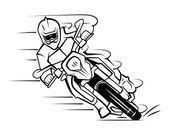 Fotografia Fumetto di motocross