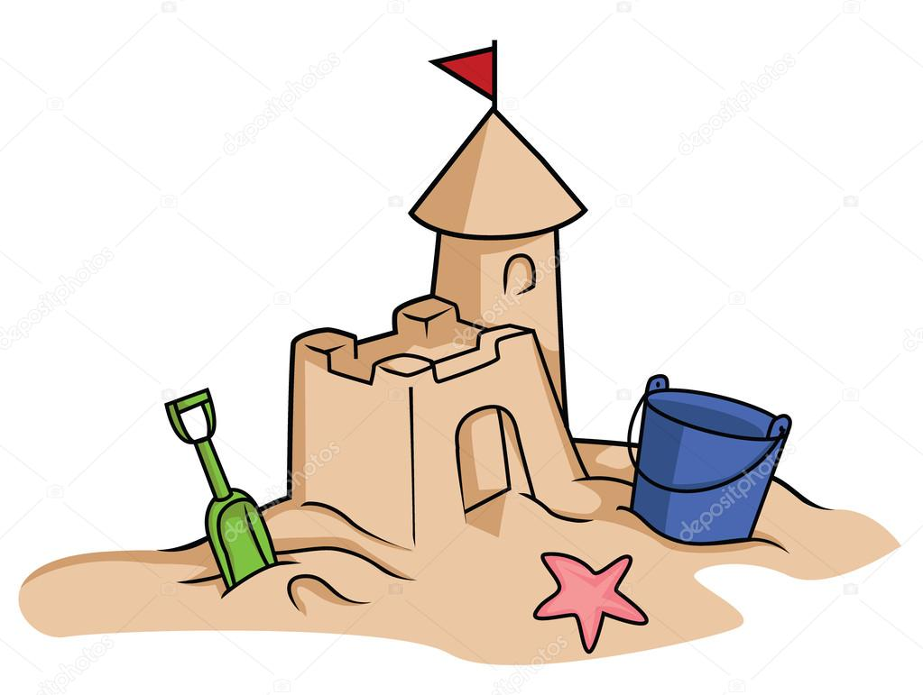 Sandburg clipart  sandburg — Stockvektor © funwayillustration #54804715