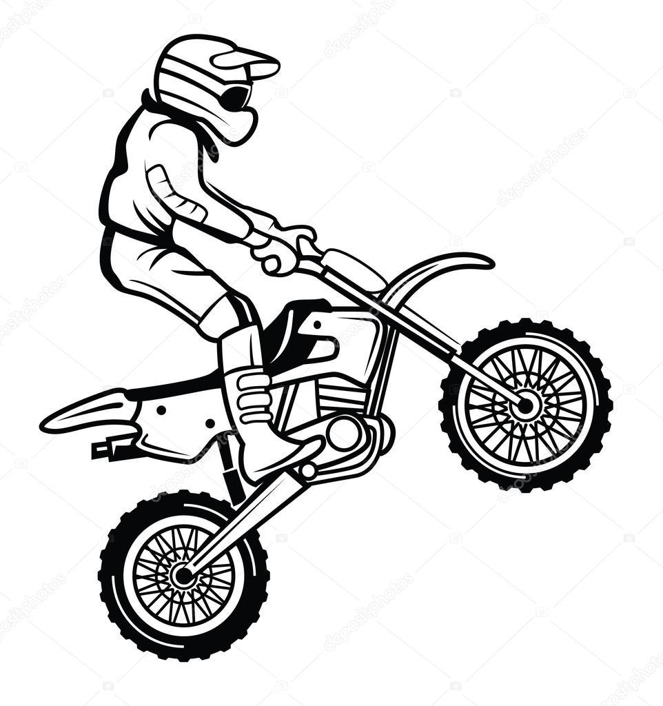 moto cross stock vector  u00a9 funwayillustration 54805257 UTV Clip Art ATV Quad