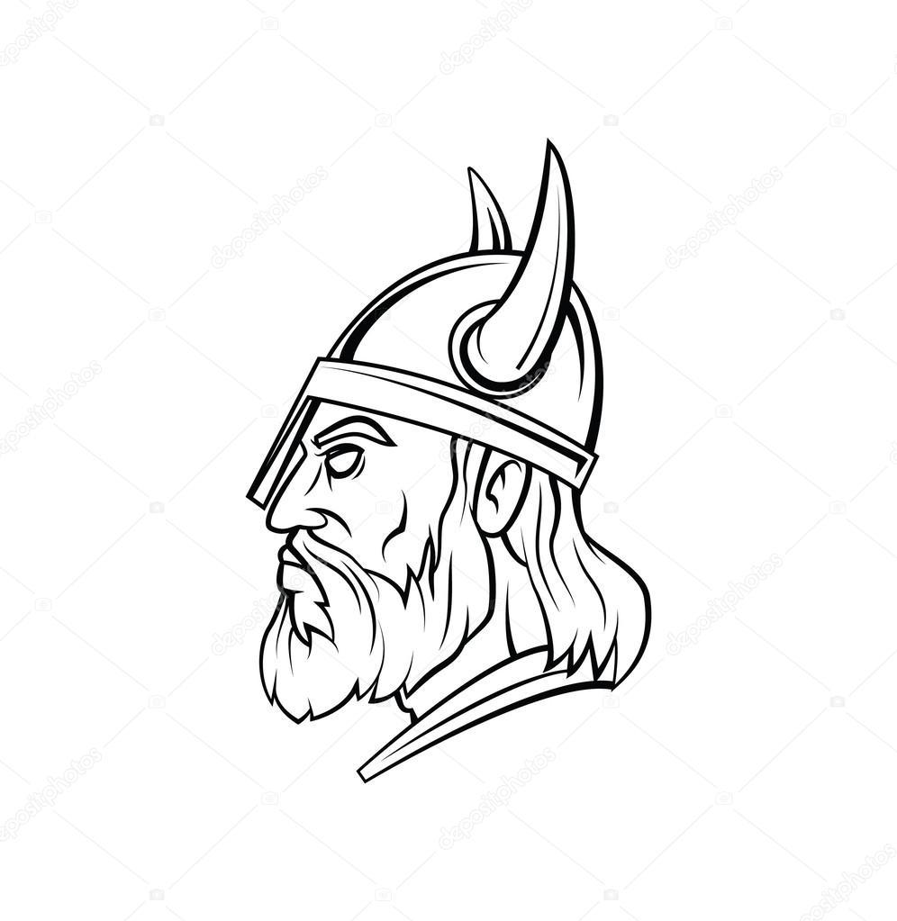 海盗头战士矢量图 — 图库矢量图像© funwayillustration #54805753