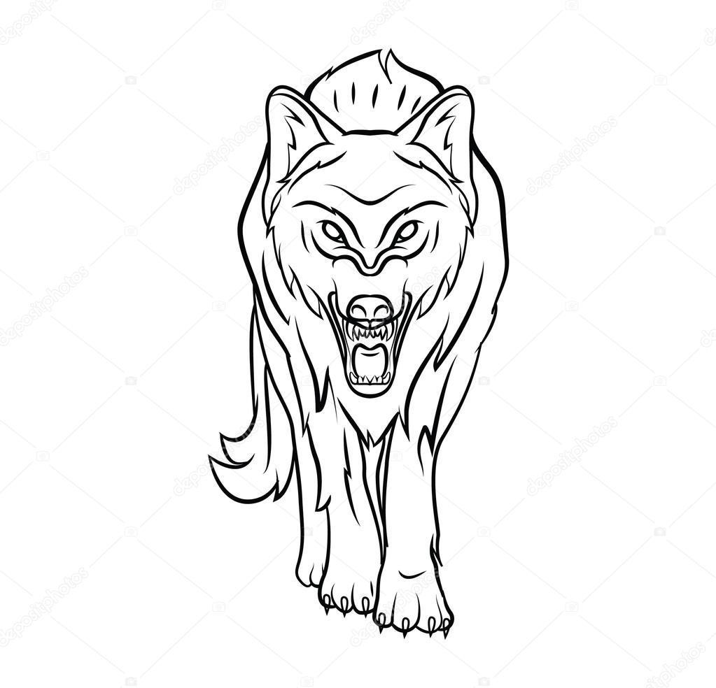 Wolf-Vektor-illustration — Stockvektor © funwayillustration #54806205