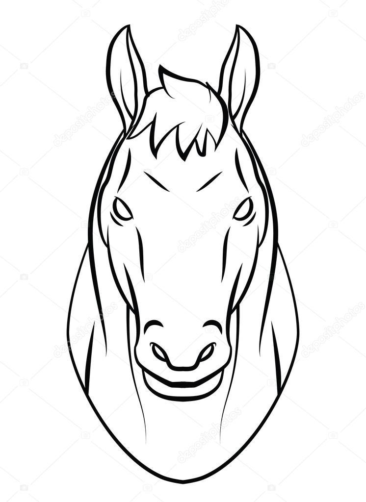 Horse Head Stock Vector C Funwayillustration 54806279