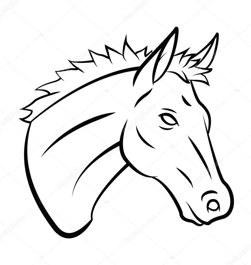 Horse Head Stock Vector C Funwayillustration 54806283