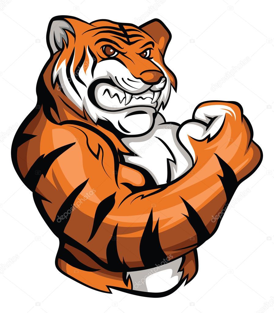 Mascote Tigre Vetores De Stock 169 Funwayillustration