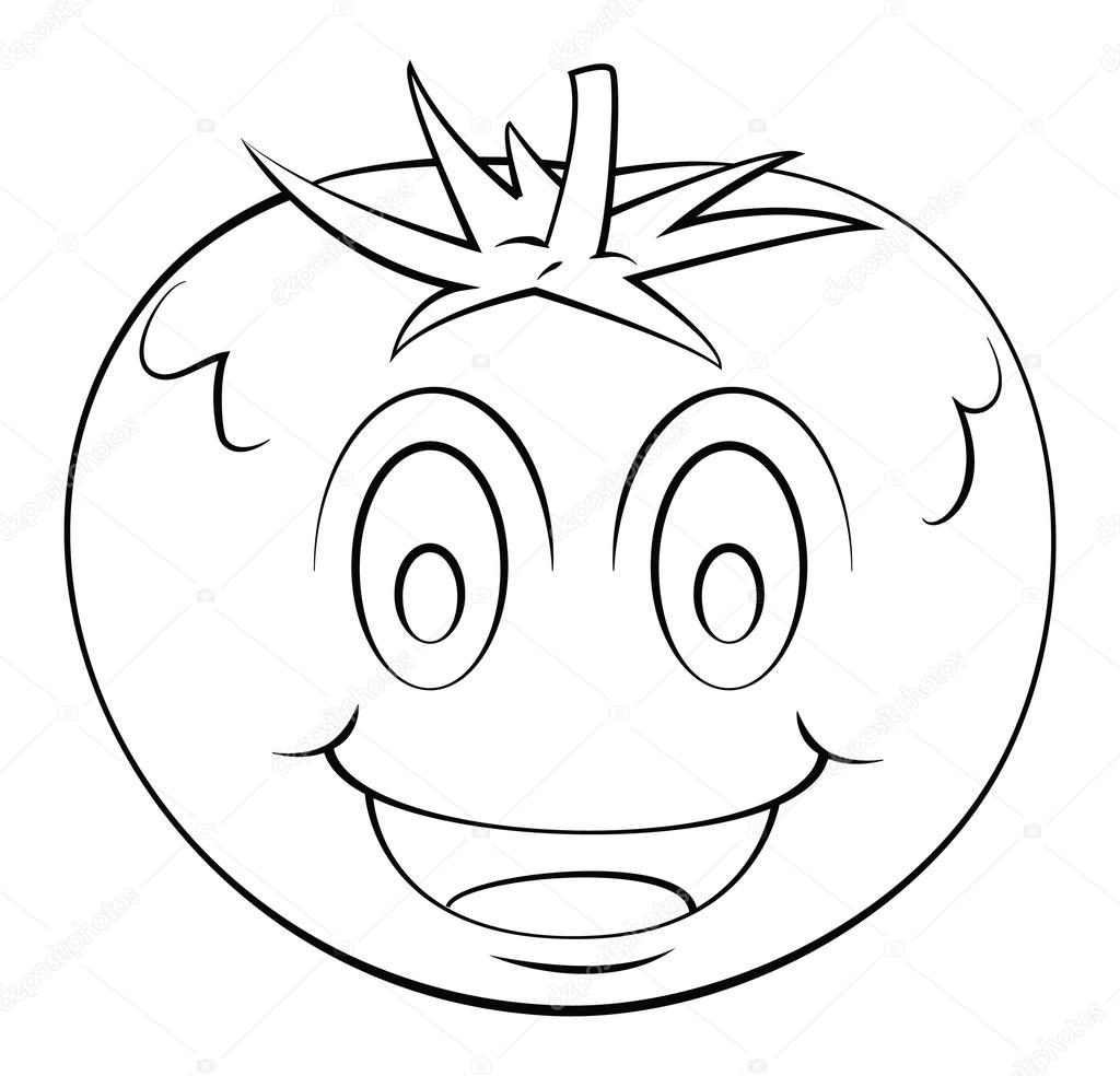 Domates Karikatür Stok Vektör Funwayillustration 54807175