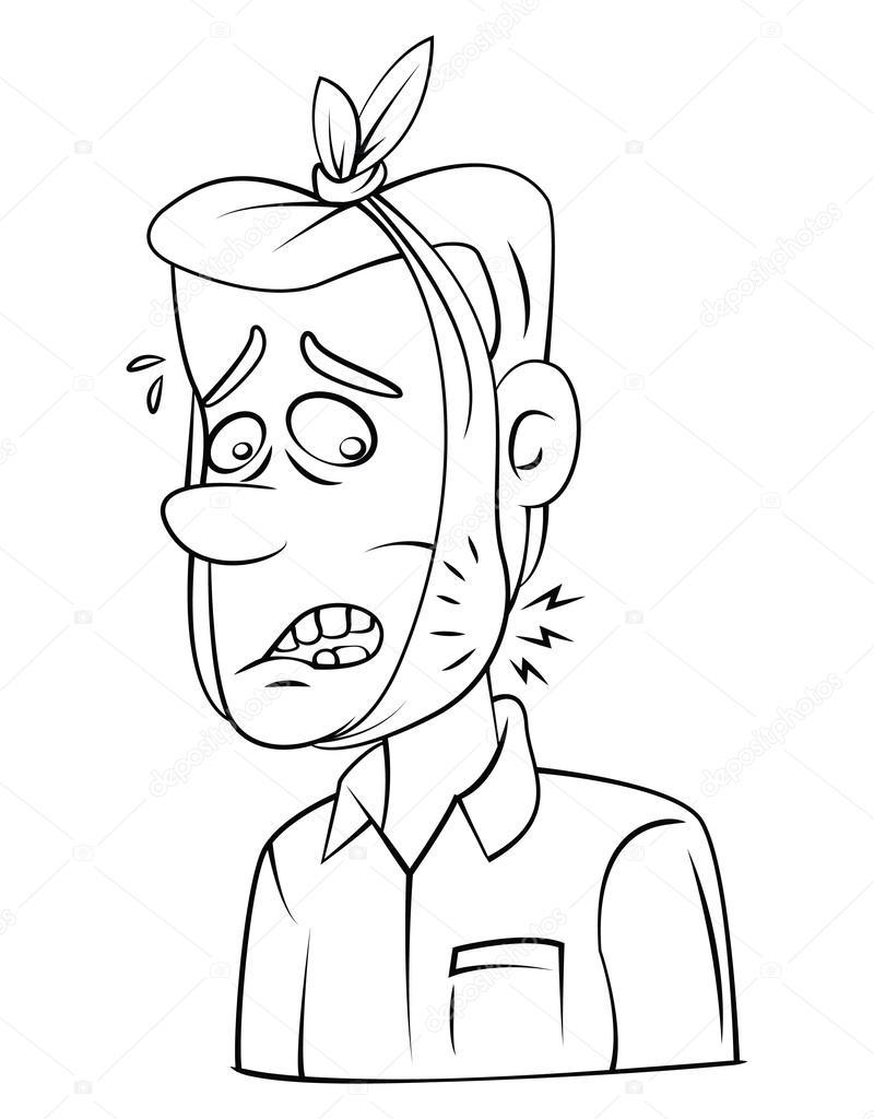 Imágenes Dibujo Muela Para Colorear Hombre Del Dolor De Muelas
