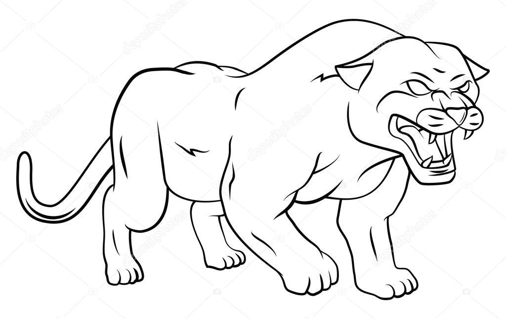 Pantera — Vector de stock © funwayillustration #56529101