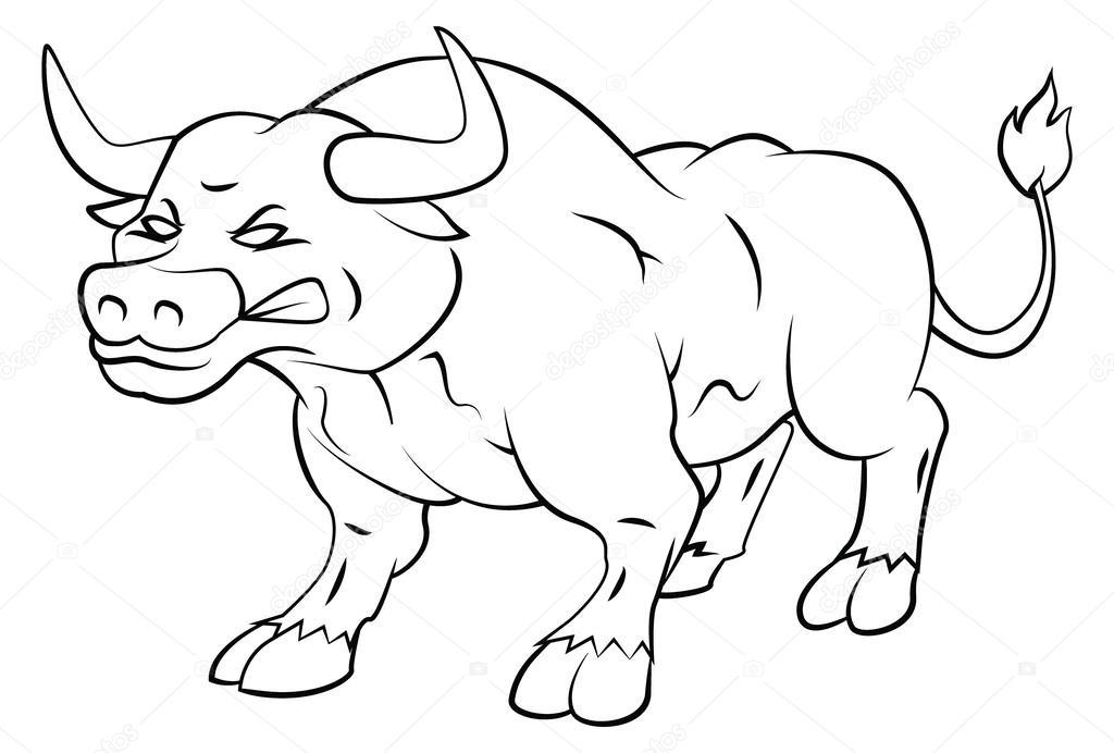 stier wütend — stockvektor © funwayillustration 56529147