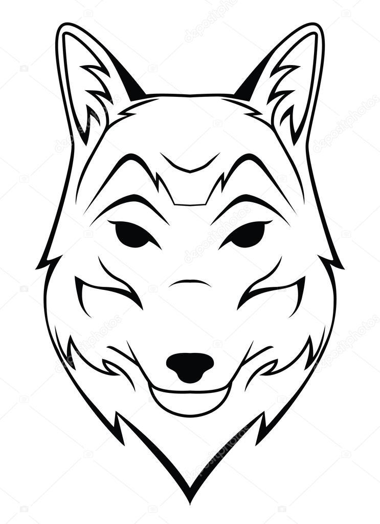 Tatuaggio testa di lupo vettoriali stock - Tete de loup dessin ...